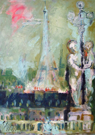 Quadro di Emanuele Cappello Parigi - olio tela