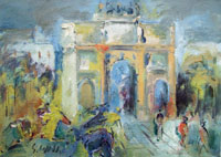 Quadro di Emanuele Cappello  L'Arco di Trionfo