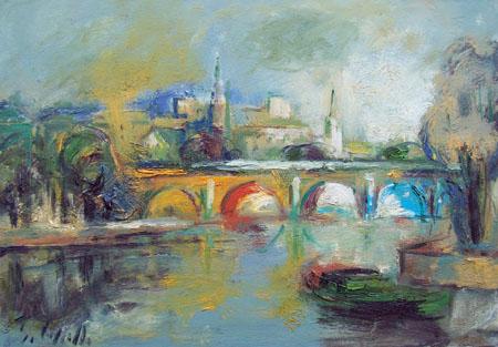 Quadro di Emanuele Cappello Il ponte - olio tela