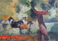 Quadro di Emanuele Cappello  Cavalli allo stato brado
