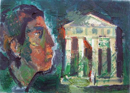 Emanuele Cappello - Tempio con figura
