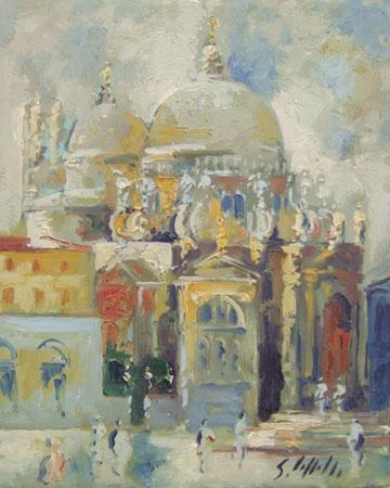 Art work by Emanuele Cappello Venezia, Basilica di Santa Maria della Salute - oil canvas