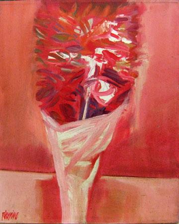 Quadro di Natale Filannino Cartoccio di fiori - olio tela