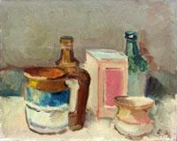 Quadro di Enzo Cangi - Composizione olio tela