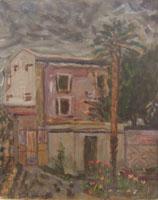 Quadro di Gastone Conti - Paesaggio olio tavola