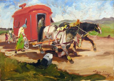 Art work by Basso Ragni Carovana - oil canvas