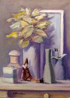 Quadro di Umberto Bianchini - Natura morta con Pinocchio olio tela