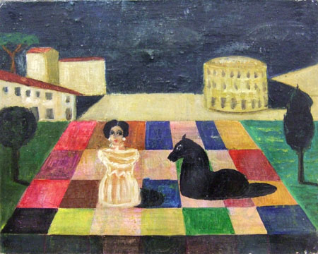 Quadro di Roberto Panichi Scacchi - olio tela