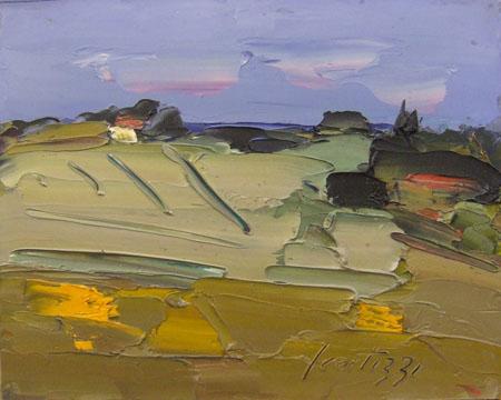 Quadro di Sergio Scatizzi Paesaggio - olio tavola