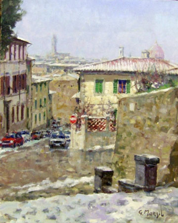 Art work by Graziano Marsili San Niccolò - Firenze - oil canvas