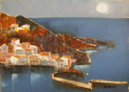 Art work by Lido Bettarini Porto - oil canvas