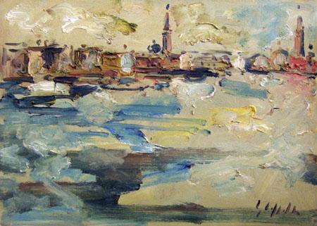 Quadro di Emanuele Cappello Venezia, olio su tela 50 x 70 | FirenzeArt Galleria d'arte