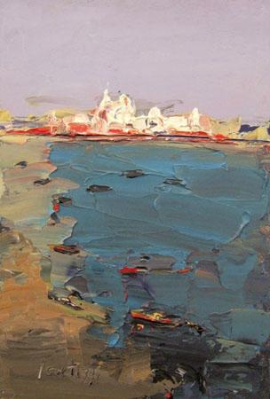 Quadro di Sergio Scatizzi Venezia - olio tavola