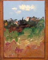Quadro di Sergio Scatizzi - Valdinievole olio tavola