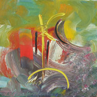 Quadro di Paolo da San Lorenzo - Composizione astratta olio tela