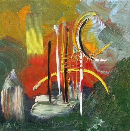 Art work by Paolo da San Lorenzo Composizione astratta - oil canvas