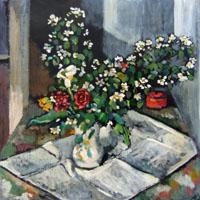 Quadro di Luigi Pignataro - Fiori olio tavola