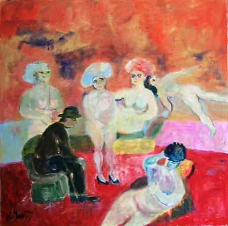 Art work by Nada Monti La Scelta - oil canvas