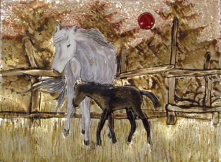 Quadro di Rosa Martemucci Cavalli - mista -