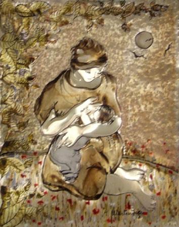 Quadro di Rosa Martemucci Madre - mista -