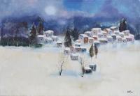 Work of Lido Bettarini - Nevicata oil canvas