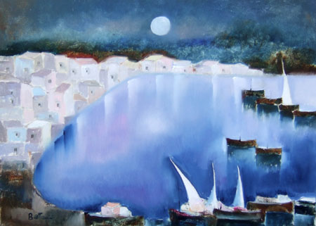 Art work by Lido Bettarini Porto - oil canvas