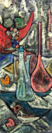 Quadro di Alvaro Baragli Composizione - Pittori contemporanei galleria Firenze Art