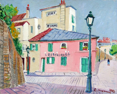 Art work by Rodolfo Marma Montmartre - oil canvas cardboard