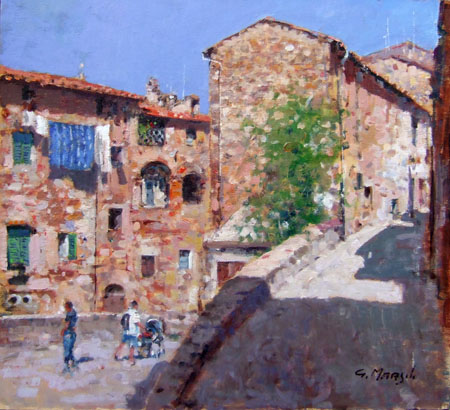 Art work by Graziano Marsili Campiglia Marittima - oil table