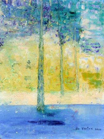 Quadro di Liù Venturi Alberi, olio su faesite 40 x 30 | FirenzeArt Galleria d'arte