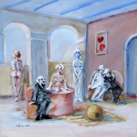 Art work by Umberto Bianchini Casa accogliente - oil canvas