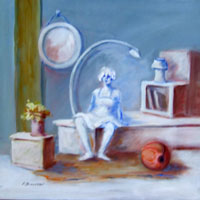Work of Umberto Bianchini - Interno oil canvas