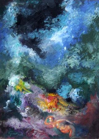 Quadro di Luigi Pignataro Composizione - Pittori contemporanei galleria Firenze Art