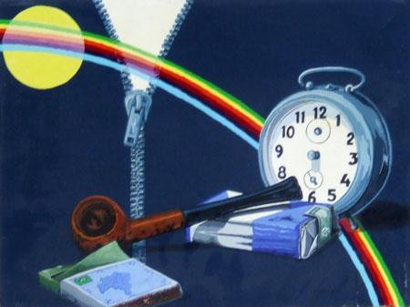 Art work by Riccardo Ghiribelli Nulla si perde - oil canvas