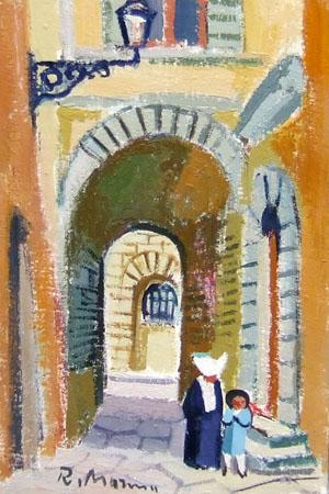 Quadro di Rodolfo Marma Arco delle misure - olio cartone telato