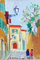 Quadro di Rodolfo Marma - Via d'Ardiglione olio cartone telato