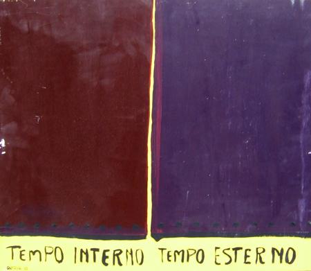 Quadro di Giuseppe Ciarcià Tempo interno tempo esterno - olio tavola