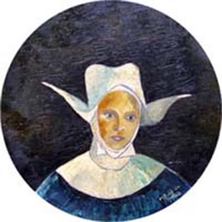 Art work by M. da Montale Suora - oil table