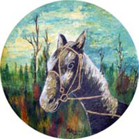 Quadro di M. da Montale Cavallo - Pittori contemporanei galleria Firenze Art