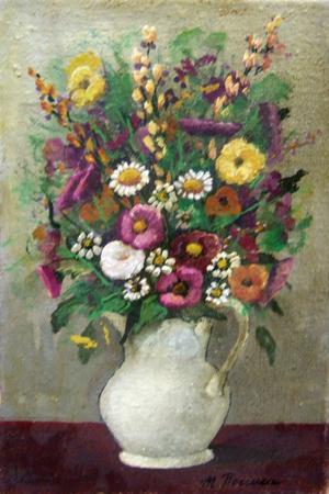 Quadro di marcello boccacci vaso con fiori for Vasi di fiori dipinti