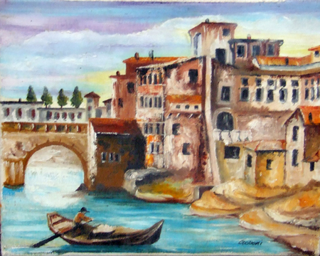 Art work by  Govoni Canale - oil canvas