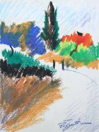 Art work by Luigi Pignataro Paesaggio - pastel paper