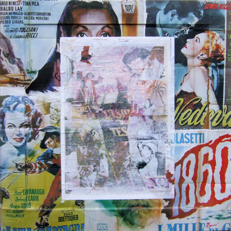 Art work by Andrea Tirinnanzi Omaggio al cinema anni '50 - collage table