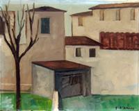 Quadro di Gaetano D'Amico - Case olio tela