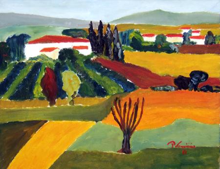 Quadro di Paolo Vannini (PaVa) Paesaggio - olio tela