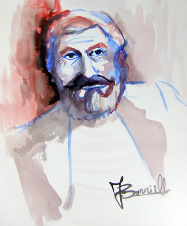 Art work by F. Borriello Ritratto - watercolor paper