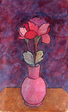 Art work by Alviero Tatini Rose - mixed paper