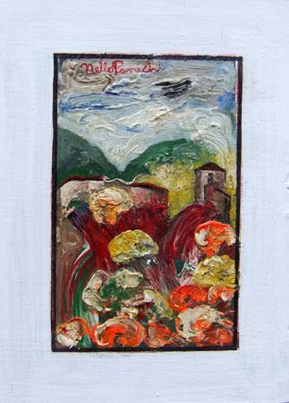 Quadro di Nello Panichi Paesaggio - olio tavola