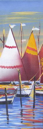 Quadro di Giuseppe Ruberto Marina - olio tela