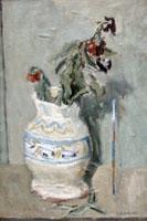 Work of Giuseppe Manfredi - Fiori oil canvas cardboard